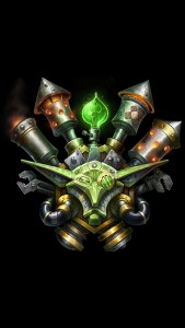 World of Warcraft - Goblin Crest iPhone 5 wallpaper